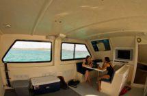 mv thresher shark diving boat cabin