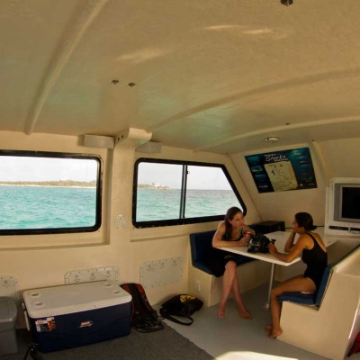 mv thresher dive boat cabin