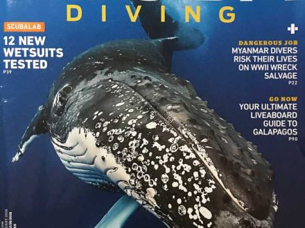 scuba diving magazine cover