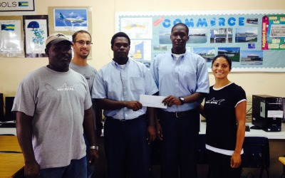 scholarship community give back epic diving