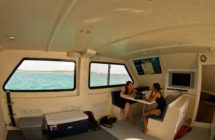 mv thresher shark diving boat cabin