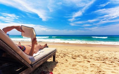relaxing bahamas beach