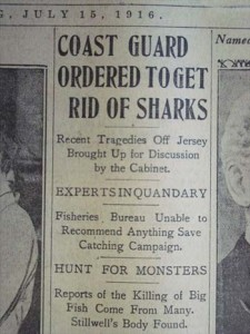 1916 shark hunt newspaper