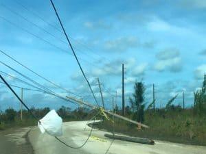 power-lines hurricane matthew grand bahama island